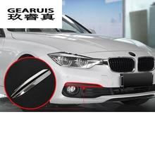 Автомобильный Стайлинг Верхняя и нижняя накладки на фары для BMW F30 3 серии-17 передние фары корректировка бровей крышка наклейки, автоаксессуары