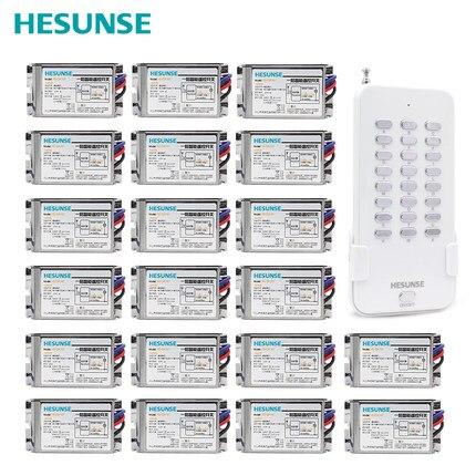 HS QA161 1N20 металлические приемники 20Ch RF 85 V 265 V дистанционного Управление переключатель для света