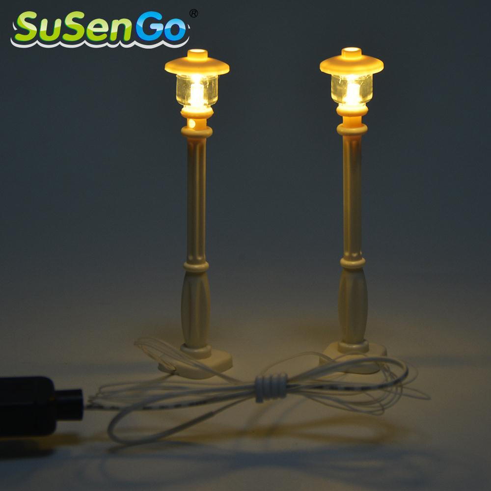 SuSenGo светодиодный уличный фонарь для серии City Creator, совместимый с известными брендами строительные блоки игрушки украшают