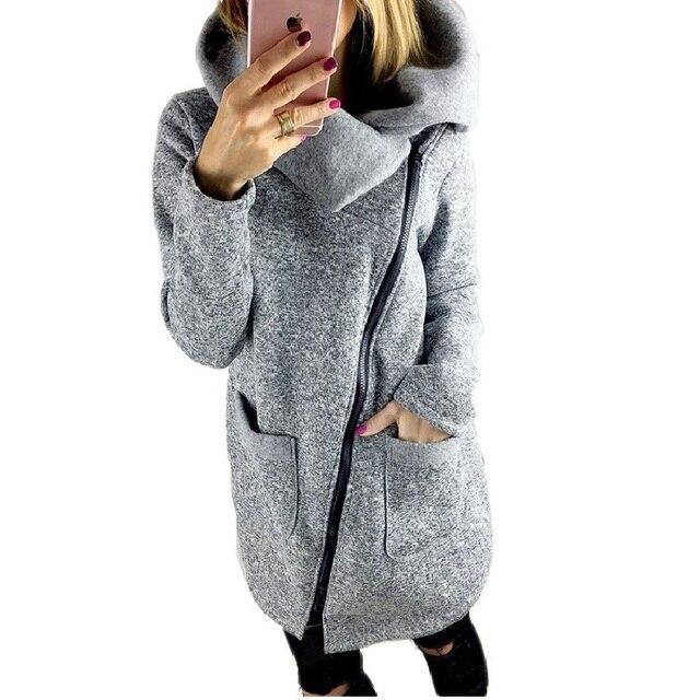 31f9393fe5634 Autumn Plus Size Winter Coats Fashion Side Zipper Loose Female Bomber  Windbreaker Womens Spring Jackets Long Denim Jacket