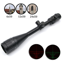 Bushnell 6 24X50 AOE Riflescope Adjustable Green Red Dot Hunting Light Tactical Scope Reticle Optical Sight