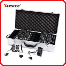 2pcs Transmitter + 60pcs Receiver+Charger Case YARMEE UHF PLL Wireless tour guide system voice device teaching earphones