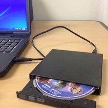 Ultral Thin USB 2.0 Load Optical CD RW Player Drive Burner for PC/Mac USB 2.0 External Mobile Box Hard Drive high performance!
