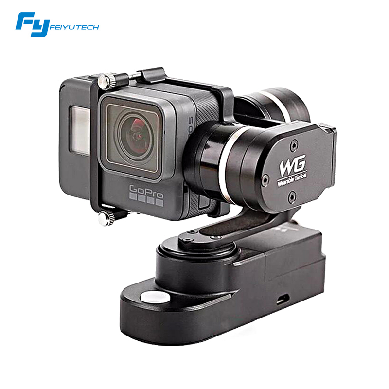Original Feiyu FY WG 3-axis Wearable gimbal for gopro Hero 5 4 / 3+ / 3 xiao mi yi LCD Touch BacPac FY-WG PK  Zhiyun Rider M feiyu tech fy wg lite single axis