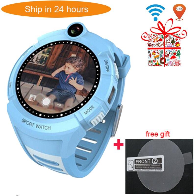 f89c7729411 Q360 VM50 Crianças Relógios Inteligentes com Câmera WIFI GPS Localização  relógio smartwatch SOS criança Anti Perdido Do Monitor Rastreador bebê PK  Q528 Y1 ...