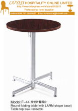 Cocktail coffee round folding table,stainless steel base,MDF top,kd packing 1pc/carton,fast delivery