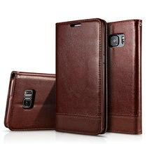 מגנטי Flip Case לסמסונג גלקסי S6 S7 קצה S6Edge בתוספת עור מפוצל שרוך שקיות טלפון סמסונג S8 S9 בתוספת כיסוי