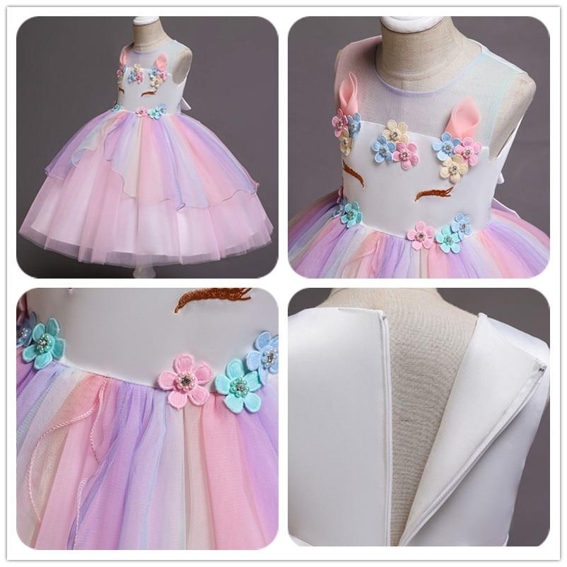HTB1R0bQbinrK1Rjy1Xcq6yeDVXas Unicorn Dress Birthday Kids Dresses For Girls Costume Halloween Christmas Dress Children Party Princess Dresses Elsa Cinderella
