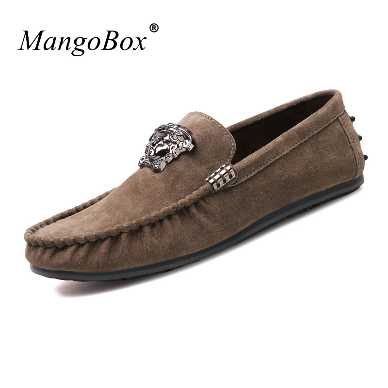 MangoBox Young Boy Casual Shoes Brown Adult Moccasins Sneakers Spring - Men's Shoes - Photo 5