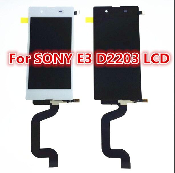Белый черный ЖК-дисплей сенсорный экран с digitizer полный Ассамблея ремонт частей для Sony Xperia E3 D2243 D2212 D2203 D2206