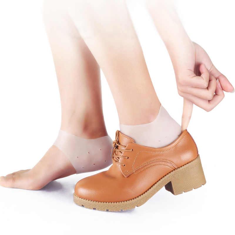 2 пары пятки Силиконовые серьги гелевые лодыжки Поддержка мягкие носки носочки для кости Spur Relief JIU55
