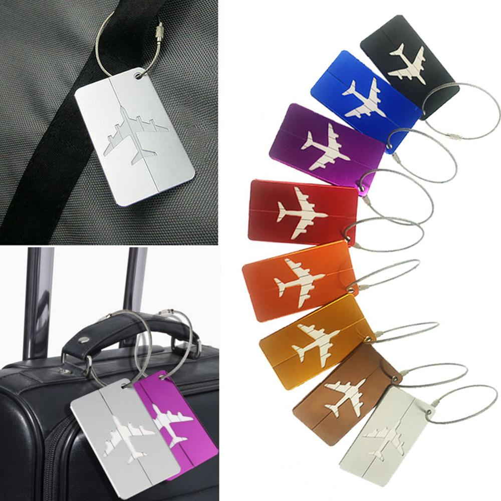 Aluminum Alloy Luggage Waterproof Tag Travel Suitcase Bag Name ID Tags Address Label Baggage Card Holder Travel Accessories