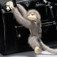 The Monkey mascot popular Copenhagen mink fur plush monkey doll doll bag pendant car accessories