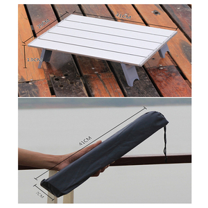 Image 4 - Outdoor travel aluminum portable folding camping table foldable folding picnic tables hiking lightweight roll up camp desk table