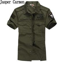 2017 mode airforce uniform kurzarm shirts männer kleid hemd Aeronautica militare Air Force One Marke armee Hemd 75z