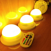 5PCS/lot Battery Powered RGB 16 Colors Available Color Changing Waterproof LED Candle light