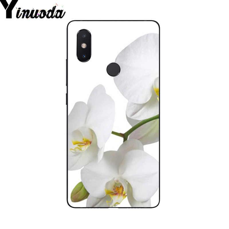 Yinuoda Blanca Flor de Orquídea de impresión de dibujo funda de teléfono para Xiaomi mi 6 mi x2 mi x2S Note3 8 8SE Redmi 5 5Plus Note4 4X Note5