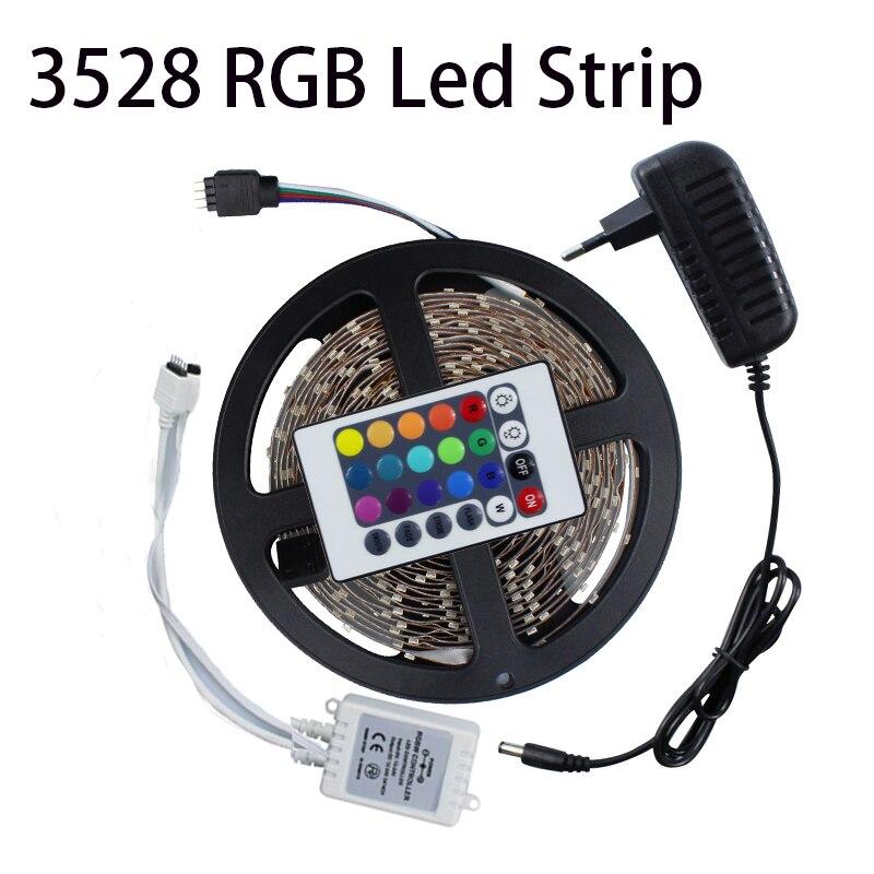 3528 60Leds M 5M LED Strip Light Kit Non Waterproof RGB Single Color IR Remot