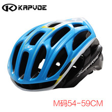 Kapvoe Bicycle Helmet Integrally-molded Cycling Helmet Outdoor Sports Road Mountain MTB Bike Helmet With LED Warning Lights