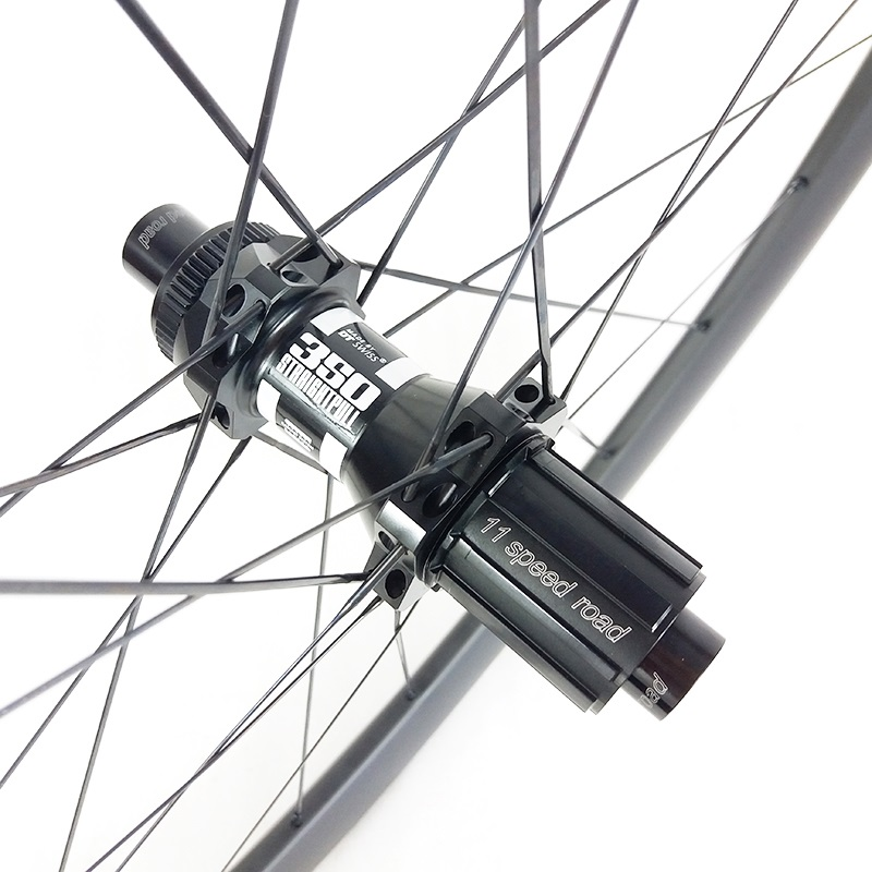 SPEEDSAFE 780g 42mm Asymmetric Clincher Tubeless Road Disc Straight Pull Center Lock Carbon Rear Wheel 350 Cyclo-cross Bicycle
