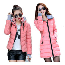 2017 New Wadded Jacket Female Women Winter Jacket Cotton Coat Slim Parkas Ladies Plus Size Maxi