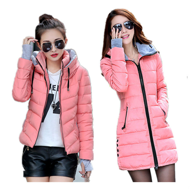 2017 New Wadded Jacket Female Women Winter Jacket Cotton Coat Slim Parkas Ladies Plus Size Maxi Womens Jackets And Coats C2262