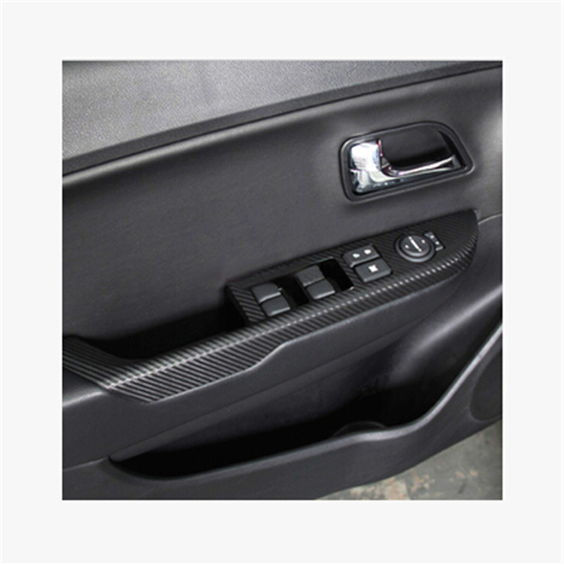 Autocollant de voiture en fiber de carbone autocollant panneau de porte autocollant accoudoir autocollant pour KIA Rio k2