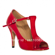 Cheap Girls Red Patent Leather Ballroom LATIN Dancing Shoes SALSA Dance Shoes Tango Shoes Samba Dancing Shoes