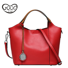 100% Genuine Leather Bag Women Leather Handbags Famous Brand Women Messenger Bags Big Ladies Shoulder Bag Bolsos Mujer Women Bag