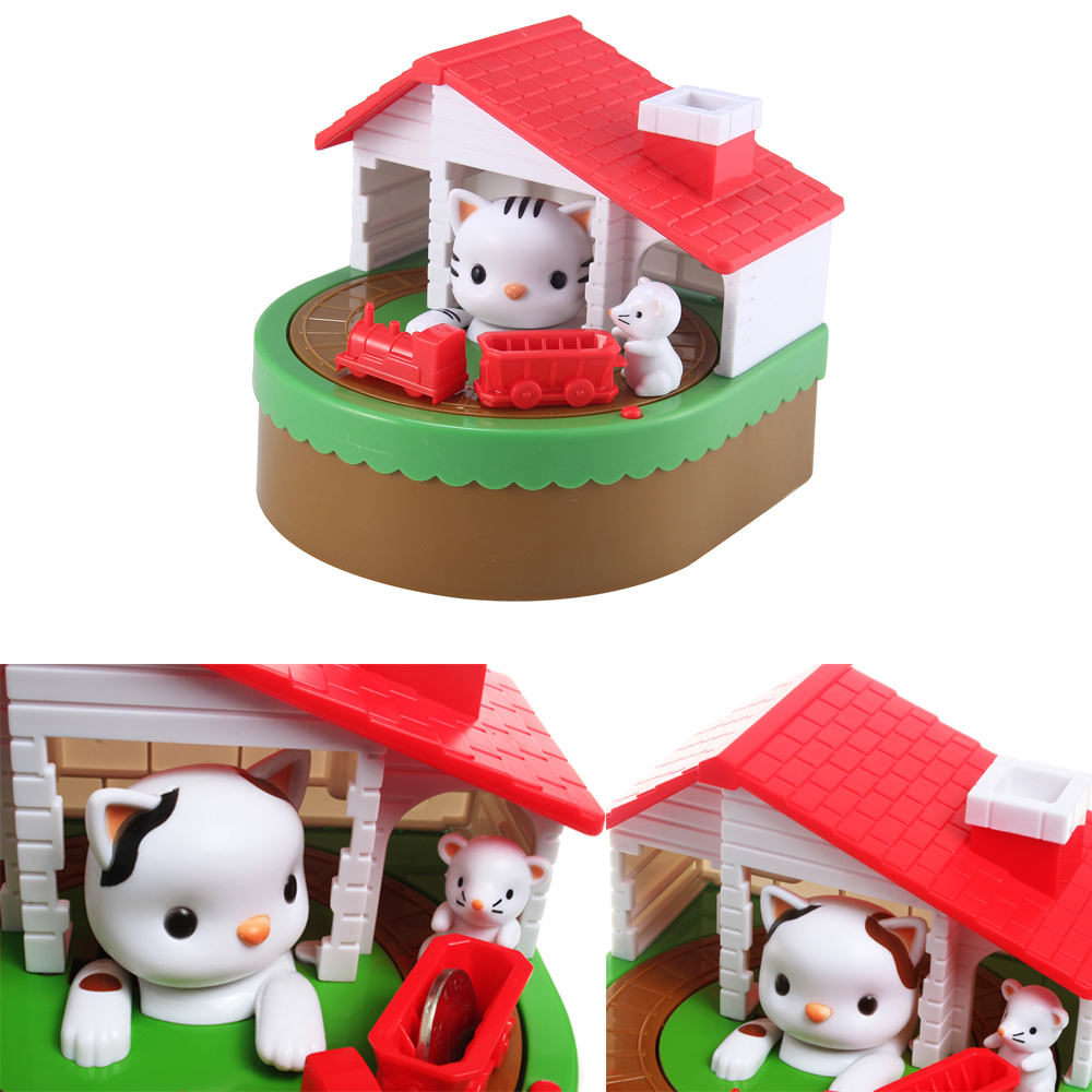 Cute Cat & Mouse Bank Coin Save Money Box Novelty & Gag Toy Saving Money Bank Box Creative Christmas Gift For Kids Children Toy