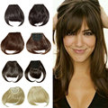 New Hairstyle Clip in Bangs Fake Hair Extension Hairpieces Hair Piece Clip on Front Neat Bang For Women Synthetic Fringe Bang US