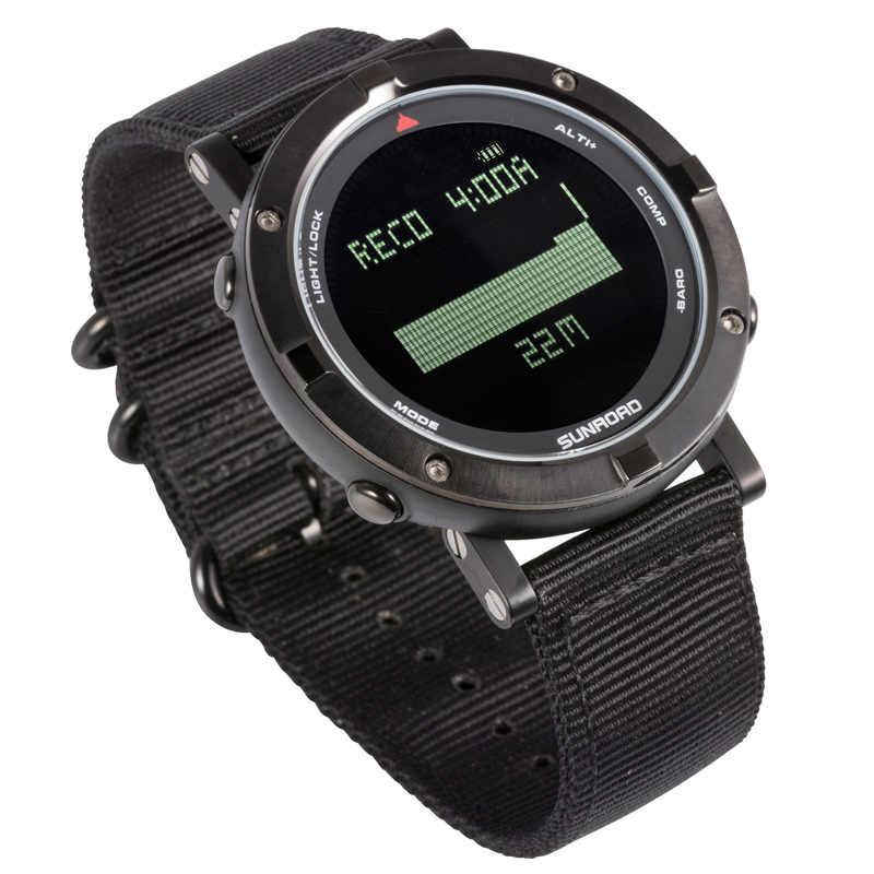 Sunroad relógio digital masculino com freqüência cardíaca altímetro barômetro pedômetro reloj hombre para caminhadas correndo relógios de natação