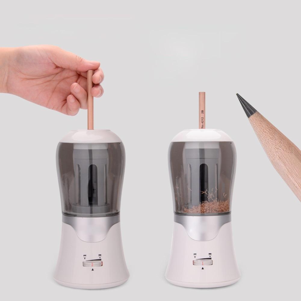 Adjustable Nib Thickness Automatic Electric Pencil Sharpener Writing Drawing Pencil Sharpener