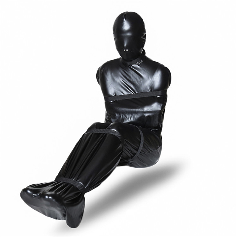 Patent Leather Bondage Set Whole Body Harness Bdsm Sex Rope Restraints Kit Adult Games Products For Women Men