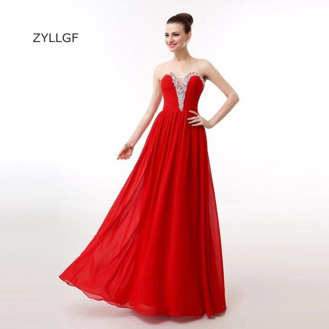 ZYLLGF Largo Rojo Vestido de Noche Formal Mujeres Vaina Novia ...