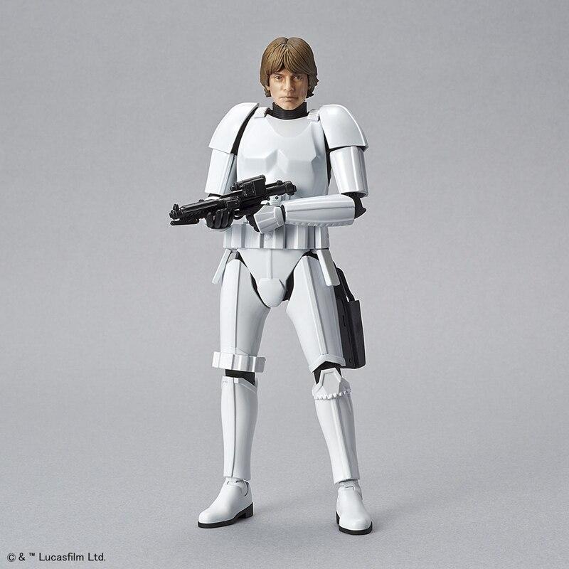 цены на WSTXBD Original BANDAI STAR WARS 1/12 Scale General Luke Skywalker Stormtrooper PVC Figure Model Kids Dolls Toys Figurals в интернет-магазинах