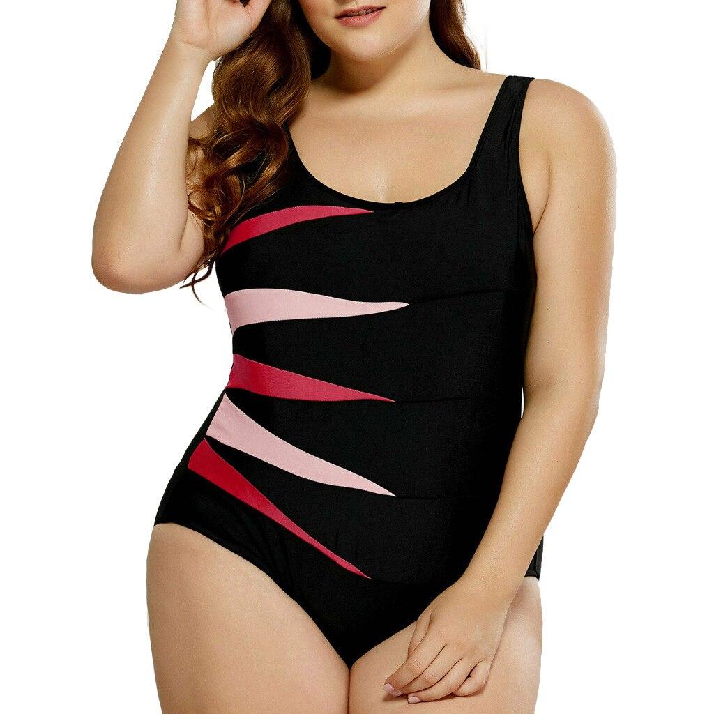 Mais tamanho 5xl grande listrado roupa de banho das mulheres uma peça maiô cinta beachwear traje de banho de baño mujer maillot de bain femme monokini