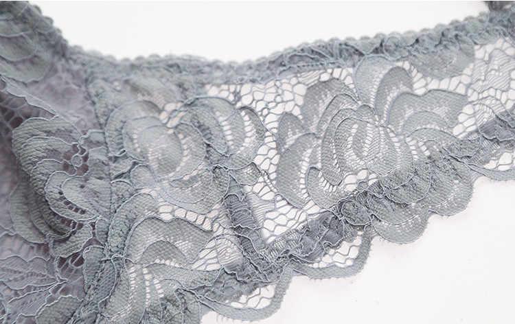 Nouvelle vente de lingerie chaude mince sexy dentelle transparente fleur section mince confortable respirant maille sous-vêtements soutien-gorge ensemble