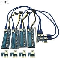 Hot Sale PCIE PCI E PCI Express 1X To 16X Riser Card 1 To 4 USB3