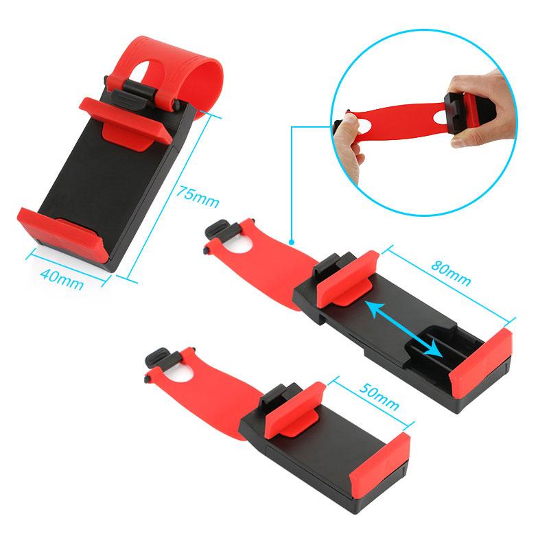 YeeSite Universal Car Steering Wheel Clip Mount Holder for iPhone 8 7 7Plus 6 6s Samsung Xiaomi Huawei Mobile Phone GPS 5