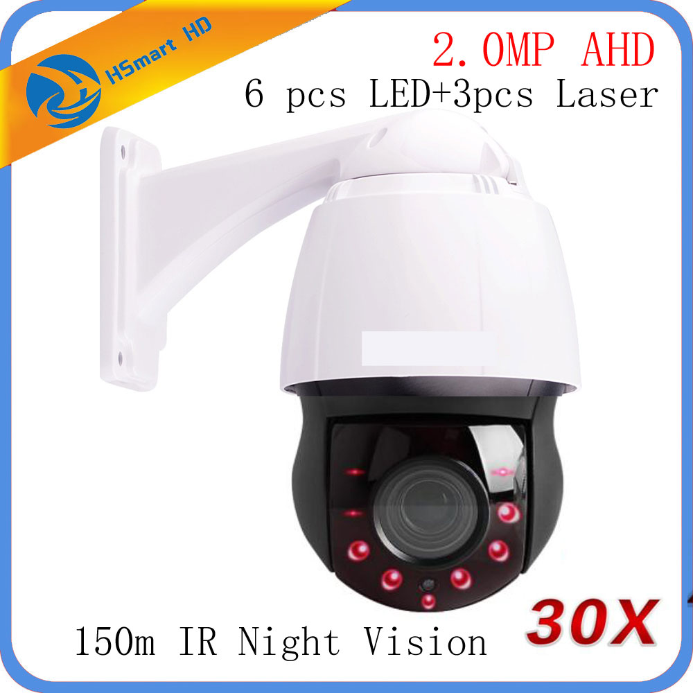 1080 P AHD TVI CVI PTZ Мини купольная камера 2MP SONY323 30X оптический зум IR 150 м CCTV AHD камера наружная непогоды
