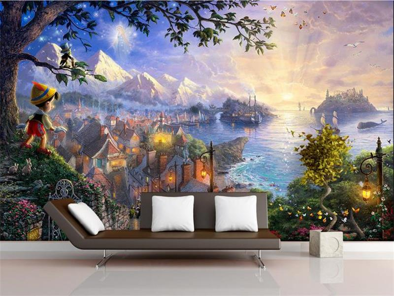 3d room wallpaper custom murals non-woven wall sticker Western Fairy Tales boy under tree painting photo wallpaper for walls 3d 3d ceiling murals wallpaper custom photo non woven a pink rose 3d wall mural wallpaper for walls 3d room decoration painting