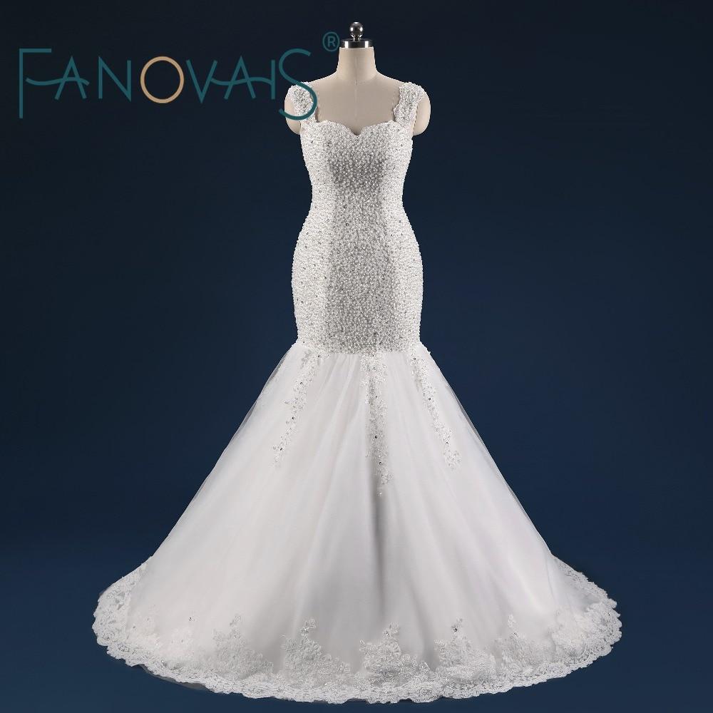 Real Photo Mermaid Pulmakleitid 2017 Vestido de novia Robe de mariage luksuslikud pulmakleidid Printsess pulmakleit pruudi kleit