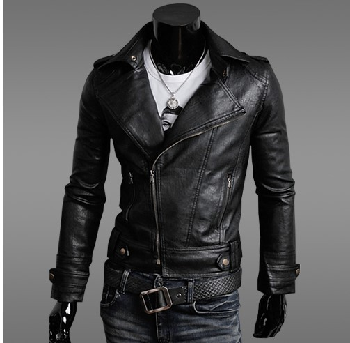 Size M-2XL Men Spring Autumn Famous Brand Motorcycle Biker Black PU Casual Coats Jackets with Detachable Hooded Slim Fit  TJA008