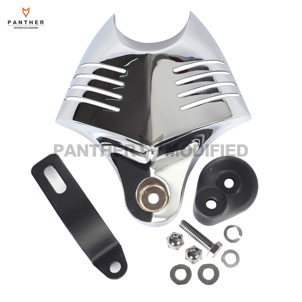 Chrome Motorcycle V-Shield Horn Cover Set case for Harley Big Twins Evo 1992-2012 Twin Cam 1988 GG