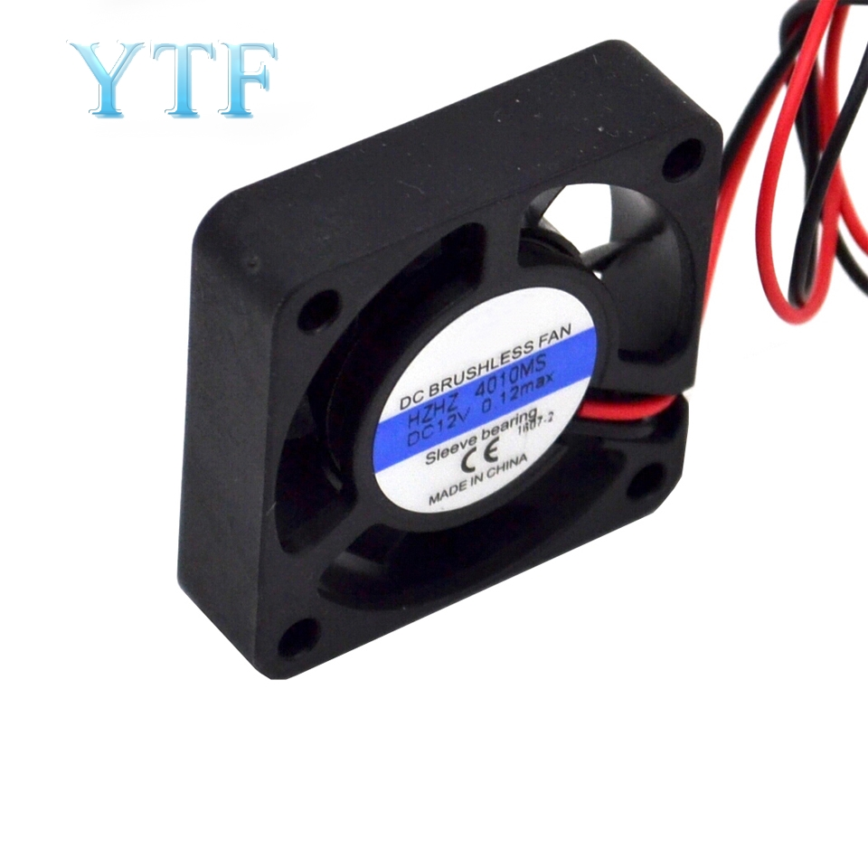 Миниатюрный вентилятор для 3D-принтера, 12 В, 24 В, одношариковый подшипник с масляным подшипником, 3010, 4010, бесшумный маленький вентилятор