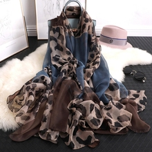 LARRIVED 2019 New Luxury Brand Scarf Leopard Print Oversized Womens Scarves Spring Summer Shawls In The Long Versatile