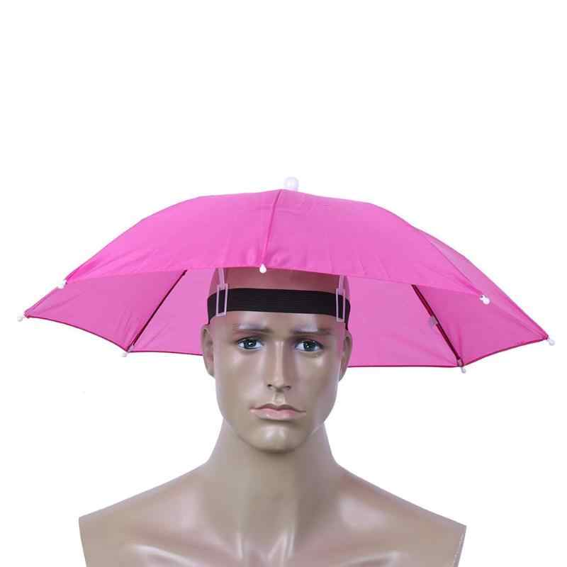 55 см портативный открытый зонт-шляпа складной Женский Мужской Зонт Рыбалка Туризм Гольф пляж головной убор Handsfree зонтик