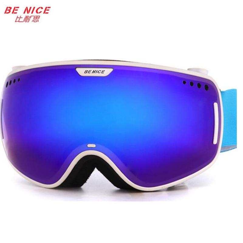 Prix pour Benice marque hiver snowboard lunettes 2016 professionnel grand double anti-buée motocross neige ski lunettes avec la boîte originale