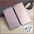 Capa para iphone 5 5s como 6 7 como 6 7 mini ouro rosa cor metal oriente quadro de volta habitação para iphone 6 mini 7 mini caso tpu livre